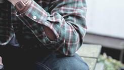 14 - pike bros green flannel shirt
